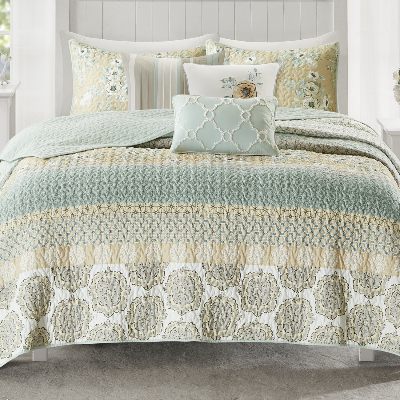Cotton Blend Machine Washable Quilts Coverlets Sets You Ll Love In 2021 Wayfair