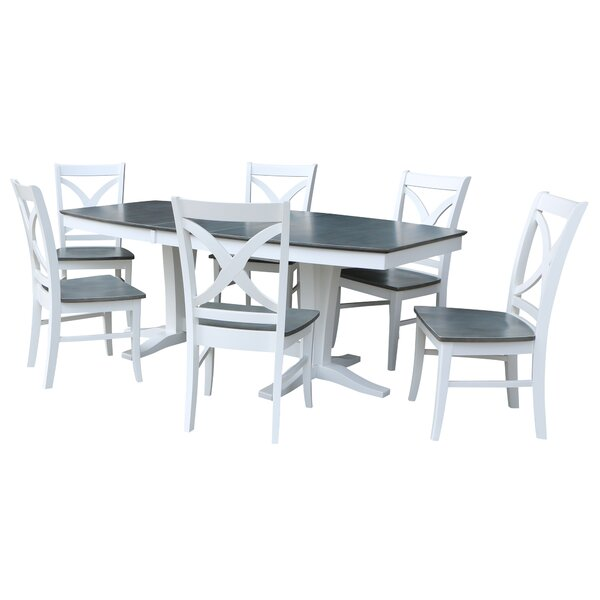 7 Piece Extendable Solid Wood Dining Set by Sedgewick Industries