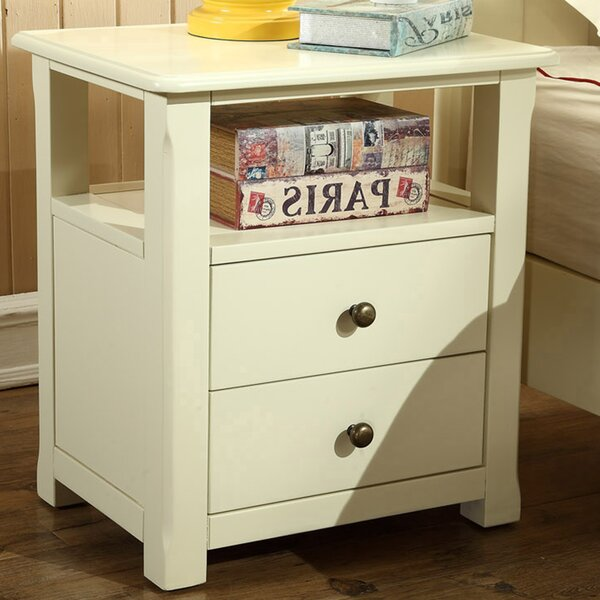 Meraz 2 Drawer Nightstand by Alcott Hill