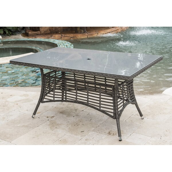 Graphite Wicker Dining Table by Panama Jack Outdoo