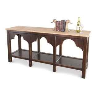 Review Almeida Railroad Trestle Console Table By Canora Grey