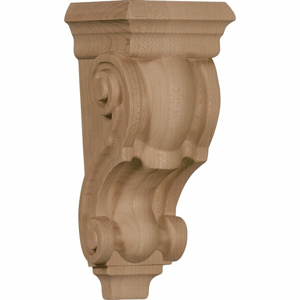 7H x 3 1/2W x 3D Small Traditional Corbel in Red Oak by Ekena Millwork