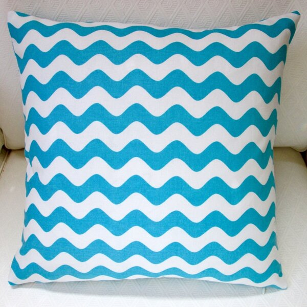 Wave Indoor Cotton Canvas Throw Pillow by Artisan Pillows