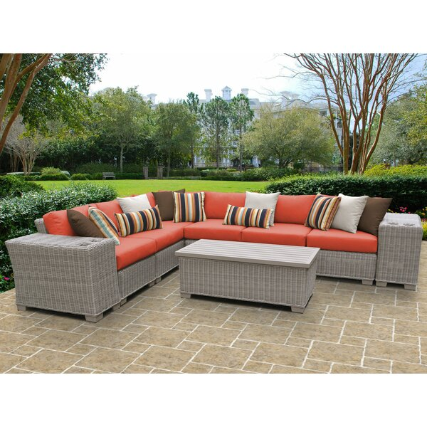 Coast 9 Piece Sectional Seating Group with Cushions by TK Classics