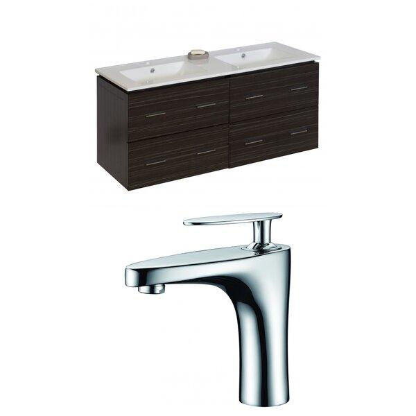 Kyra 48 Rectangle Double Bathroom Vanity Set by Orren Ellis