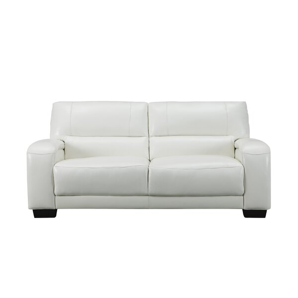 Hadsell Craft Leather Loveseat by Orren Ellis