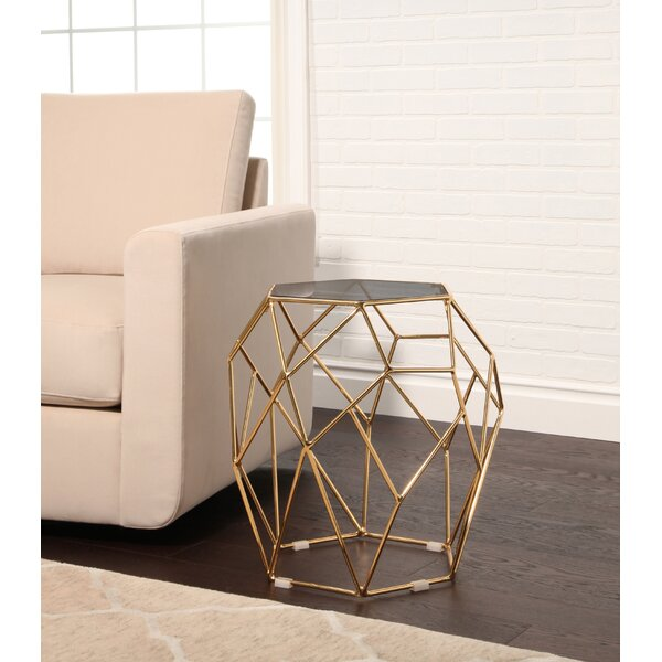 Buchanan Stainless Steel End Table by Ivy Bronx