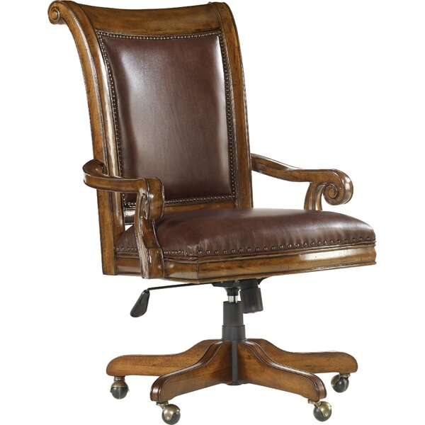 Tynecastle Leather Bankers Chair by Hooker Furnitu