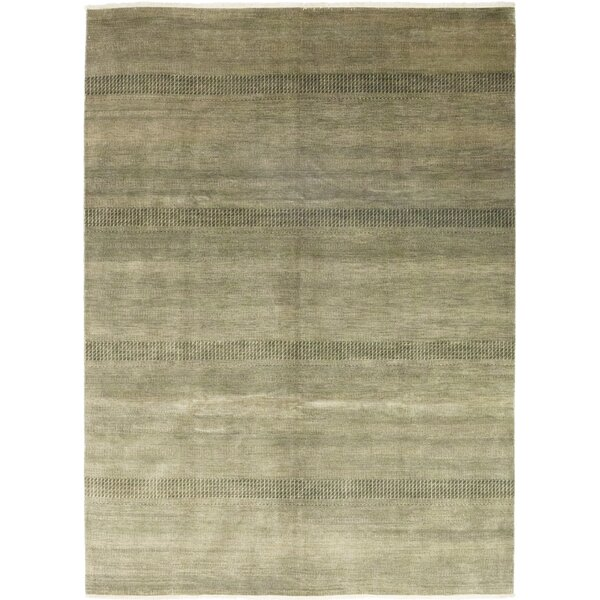 One-of-a-Kind Diederich Hand-Knotted Wool Gray Indoor Area Rug by Foundry Select