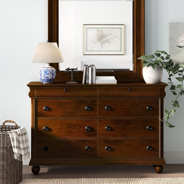 Warlick 8 Drawer Double Dresser with Mirror by Charlton Home