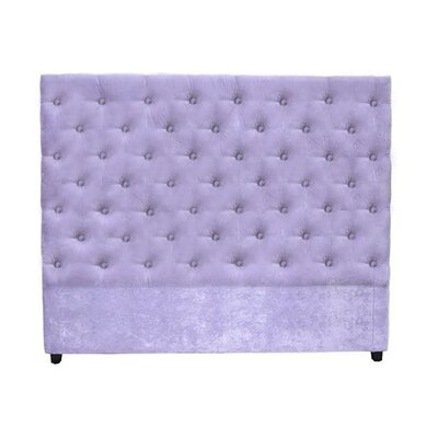 Leigh Upholstered Panel Headboard My Chic Nest Body Fabric: Encore Annapolis, Leg Color: Silver, Size: California King