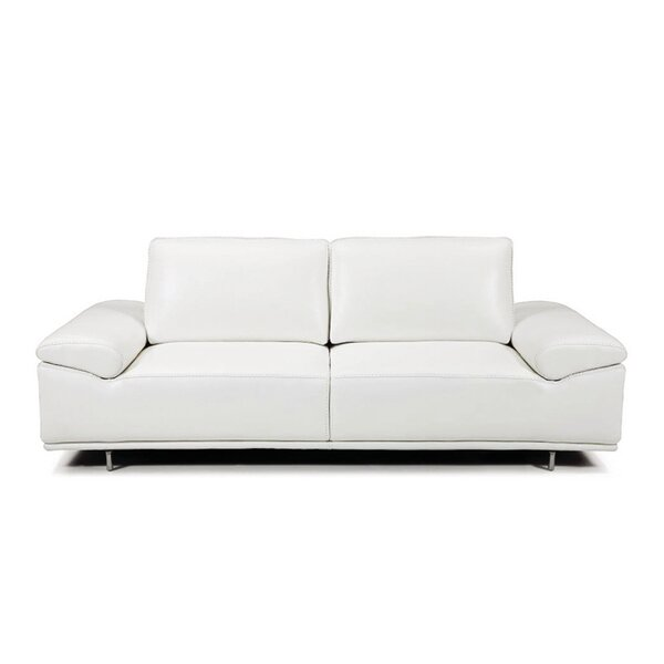 New Trendy Roxanne Leather Reclining Sofa by Bellini Modern Living by Bellini Modern Living