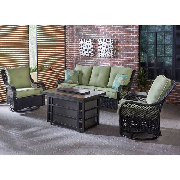 Albertson 4 Piece Seating Group with Cushions by Bay Isle Home Bay Isle Home