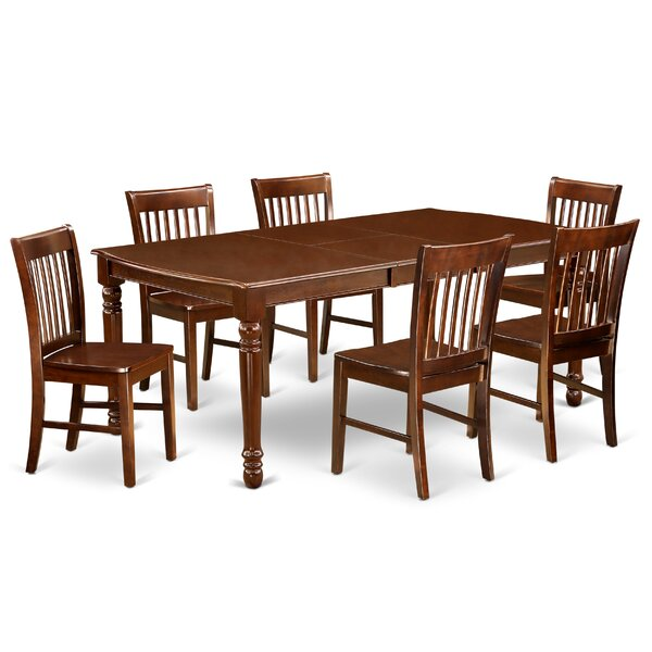 Nanci 7 Piece Extendable Solid Wood Dining Set by Alcott Hill Alcott Hill