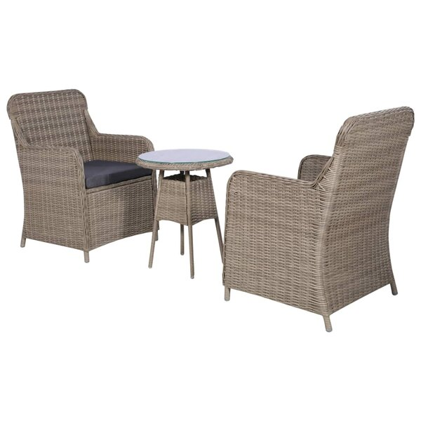 Stansbury 3 Piece Bistro Set with Cushions by Charlton Home