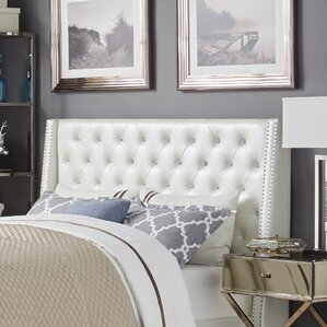 Hazel Upholstered Wingback Headboard by Willa Arlo Interiors