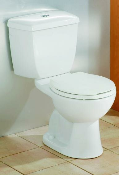 Dual Flush Elongated Two-Piece Toilet by Cheviot Products