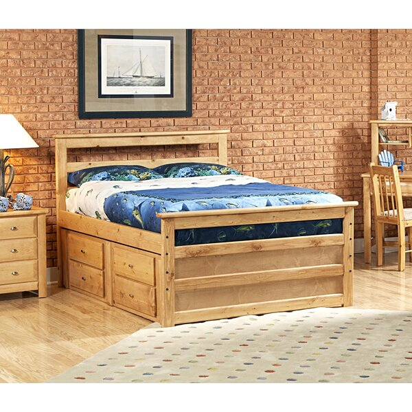 Akers Full Mates Bed with Drawers by Harriet Bee