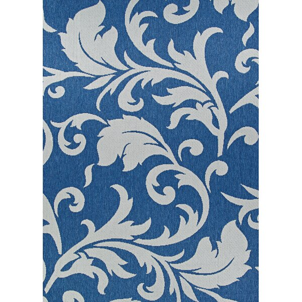 Kuykendall Sea and Dune Blue/Brown Indoor/Outdoor Area Rug by Charlton Home