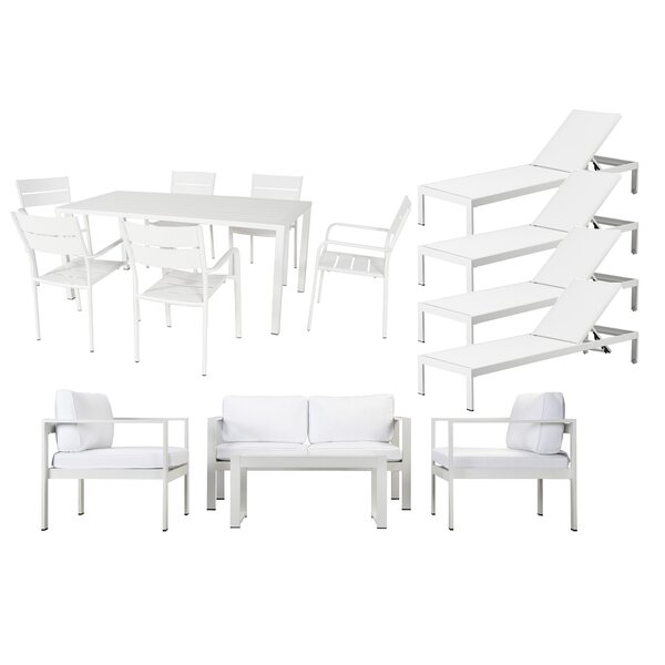 WKRN LRG 15 Piece Complete Patio Set with Cushions by Rosecliff Heights