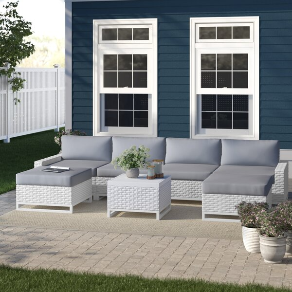 Menifee 7 Piece Rattan Sectional Seating Group with Cushions by Sol 72 Outdoor