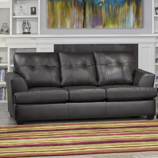 Cowhill Leather Sofa By Orren Ellis