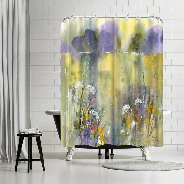 Rachel McNaughton Summer Meadow Shower Curtain by East Urban Home