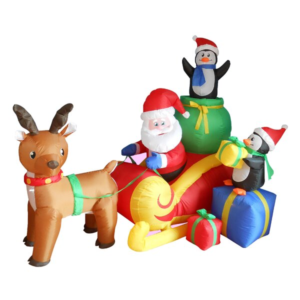 christmas inflatables youll love wayfair - Disney Christmas Blow Up Yard Decorations