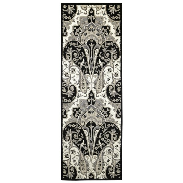Structure Hand-Tufted Black Area Rug by St. Croix
