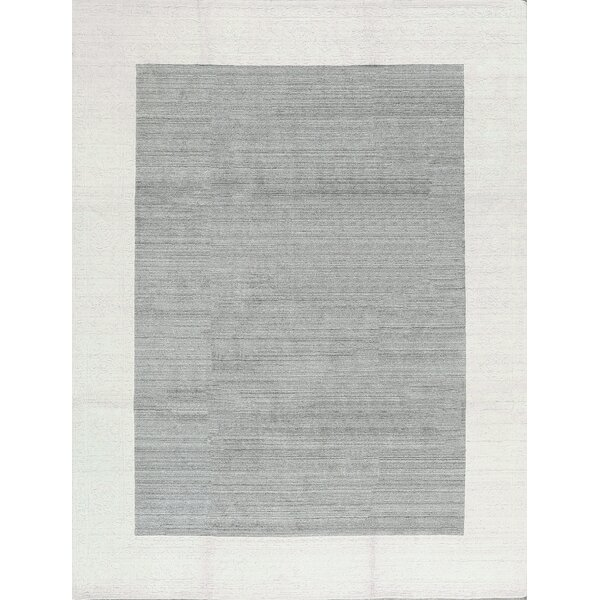 One-of-a-Kind Hand-Knotted Gray/Cream Area Rug by Bokara Rug Co., Inc.