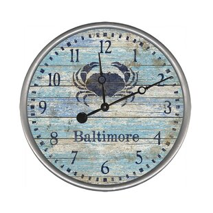 Best Price Personalized Crab Wall Clock by Red Horse Arts