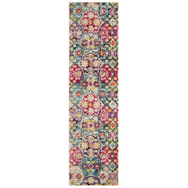 Cabra Gray/Fuchsia Area Rug by Bungalow Rose