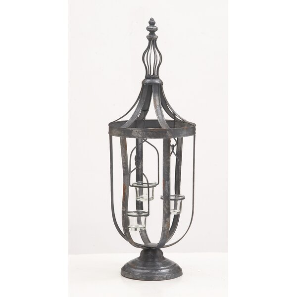 Metal Glass Lantern by Darby Home Co