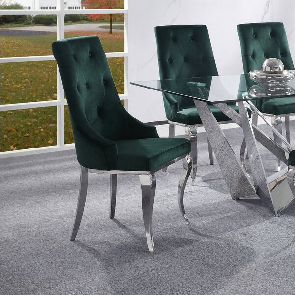 Adalard Tufted Fabric Upholstered Side Chair (Set Of 2) By Rosdorf Park