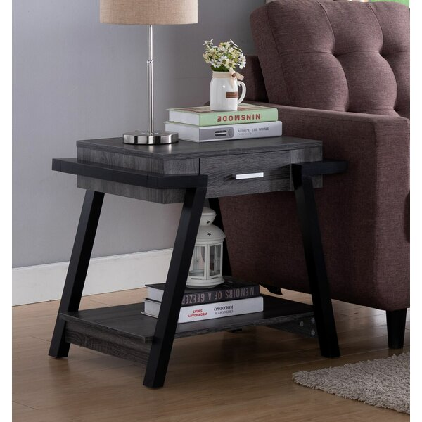 Senna Unique End Table By Williston Forge