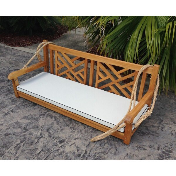 Zion Teak Porch Swing By Rosecliff Heights