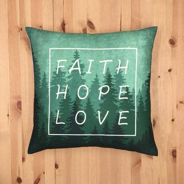 Faith Hope Love Pillow Wayfair