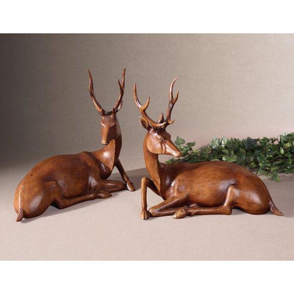 Baron 2 Piece Buck Figurine Set by Millwood Pines