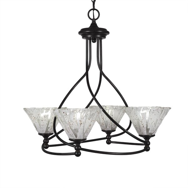Skypark 4 - Light Shaded Geometric Chandelier By Winston Porter