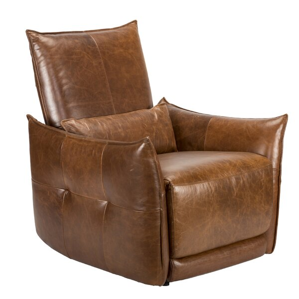 Helfgott Leather Power Wall Hugger Recliner by Red Barrel Studio