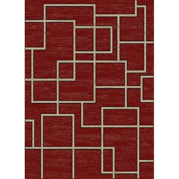 Hawtree Claret Red Area Rug by Orren Ellis