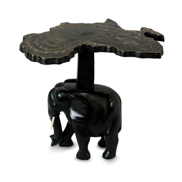 McHenry Elephant Wood End Table by Bloomsbury Market