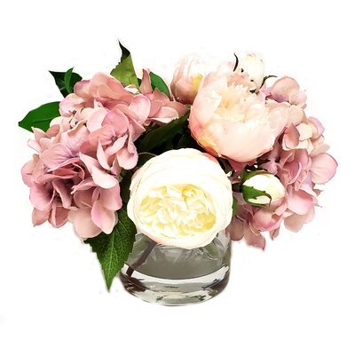 Alcott Hill Garden Peonies Centerpiece In Glass Vase Alcott Hill Flower Color Coral Pink Dailymail
