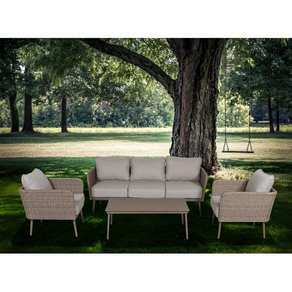 Pelchat 4 Piece Sofa Set with Cushions by George Oliver