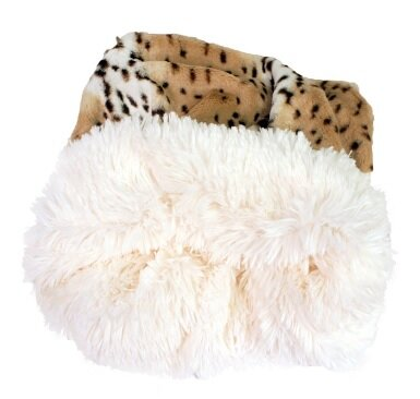 Miranda Snow Leopard Shag Dog Pouch by Tucker Murphy Pet