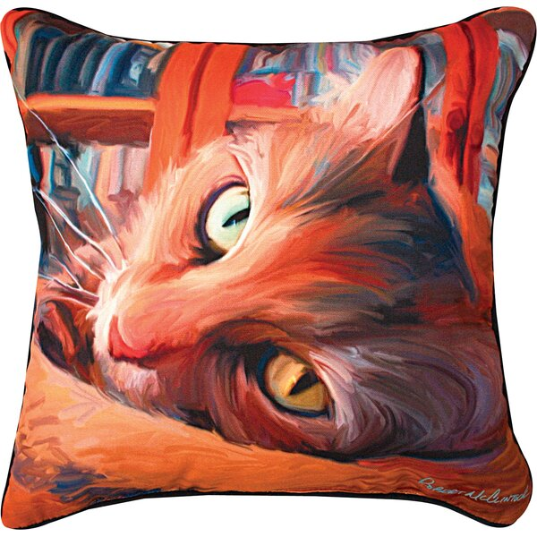Kitty Cat Throw Pillow by Manual Woodworkers & Weavers