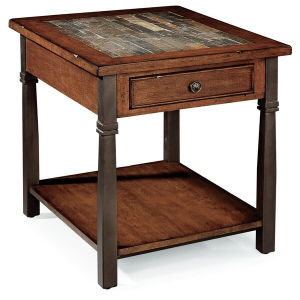 Rungata End Table With Storage By World Menagerie