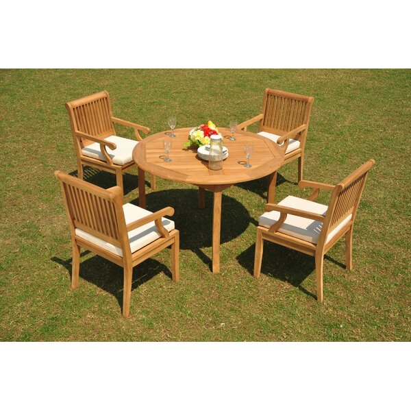 Mccoppin 5 Piece Teak Dining Set by Rosecliff Heights