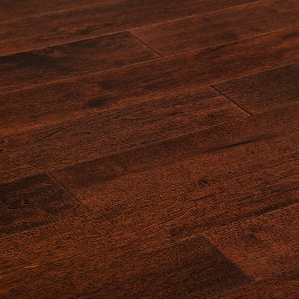 Dimond 5 Engineered Walnut Hardwood Flooring in Mocha Antique by Charlton Home