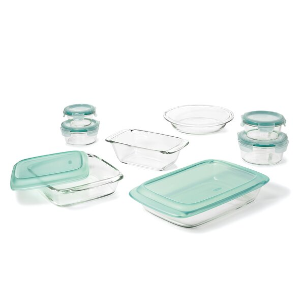 Good Grips 14 Piece Glass Bake, Serve And Store Set By Oxo.